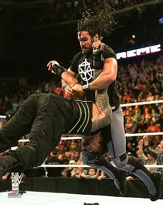 """SETH ROLLINS WWE PHOTO INRING VS ROMAN REIGNS WRESTLING 8x10"""" OFFICIAL PROMO"""