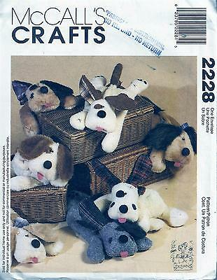 """Mccall's 2228 Sewing Pattern 21"""" Long Wheat Bag Puppies"""