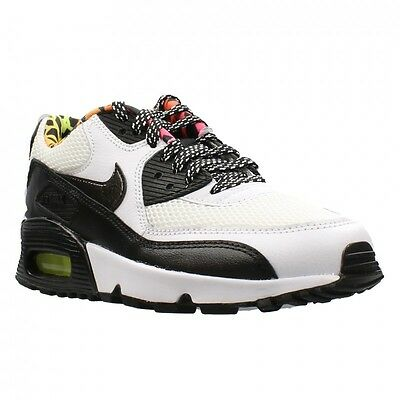 NEW 833477 100 GS GIRL'S YOUTH NIKE AIR MAX 90 FB WHITE