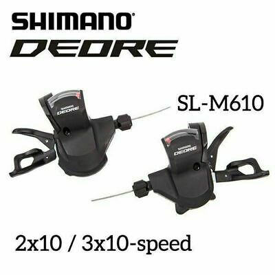 Shimano Bike Deore SL-M610 2x10 3x10-Speed Trigger Shifter Levers Set MTB Black