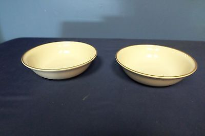 Lot of 2 Carico Brown Rimed Bowls Made in Japan Lot#6-0250