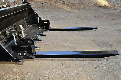 Pallet Forks, Front End Loader Bucket Clamp-on Type