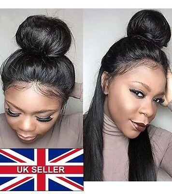 Unprocessed 360 Lace Frontal Brazillian Human Hair 10 Inches straight