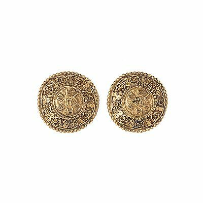 Chanel Gold-tone Round Earrings. Beautiful!