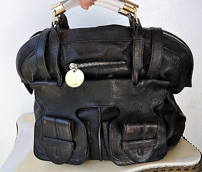 Chloé Large Black Leather Shoulder/ Handle Bag Italy Sold Out Rare Archive Stock