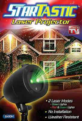 Startastic Holiday Light Show Laser Light Projector Static Weather Resistant