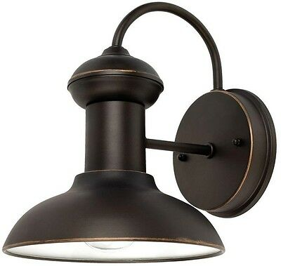 Outdoor Oil Rubbed Bronze Wall Mount Entryway Porch Patio Sconce Lamp Light