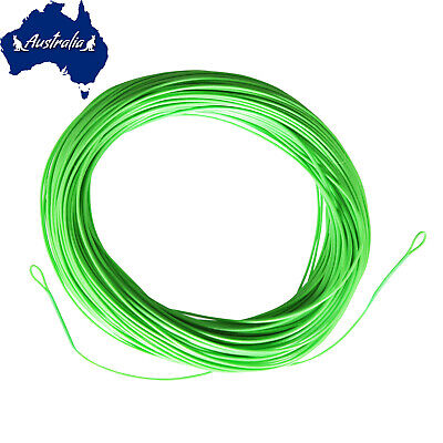 SF Green Fly Fishing Line Trout Floating WF 2 3 4 5 6 7 8 9 F wt  Loops 100 FT