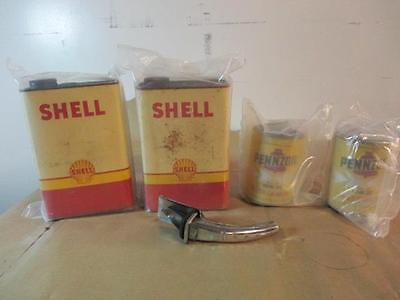 #10856 *Vintage Shell And Pennzoil Cans Lot Of 4