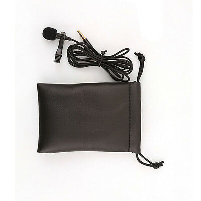 Clip-on Lapel Mini Lavalier Mic Microphone For Phone SmartPhone Recording PC