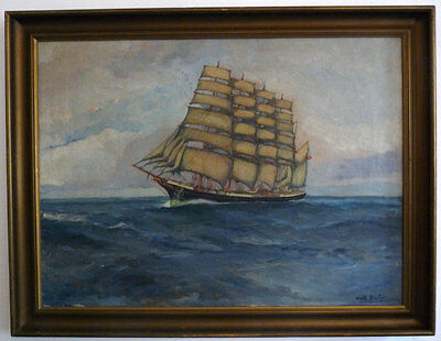 "the five masted barque ""Kopenhagen"", Max Stentzer, 1. Half 20th Century"