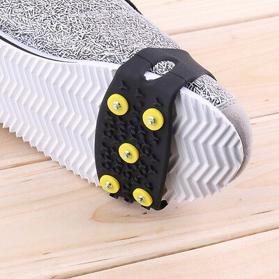 Anti Slip Snow Ice Climbing Spikes Grips Crampon Cleats 5-Stud Shoes Cover QW