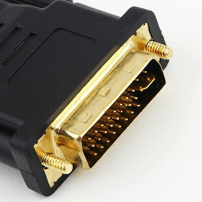 DVI Male to HDMI Female adapter Gold-Plated NEW M F Converter For HDTV LCD QW