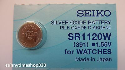 SR1120W/391, Seiko Watch Battery , Made in Japan, Silver Oxide, 1.55V