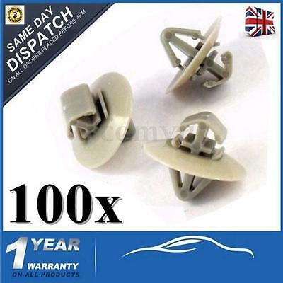 100x Clips For Renault Traffic Trafic Side Moulding / Lower Protection Door Trim