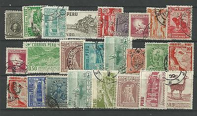 PERU STAMP COLLECTION & PACKET of 25 DIFFERENT Used Stamps NICE SELECTION