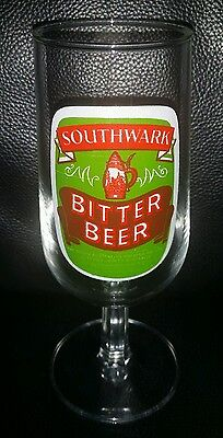 Rare Vintage Collectable Southwark Bitter Beer Glass Brand New Never Used
