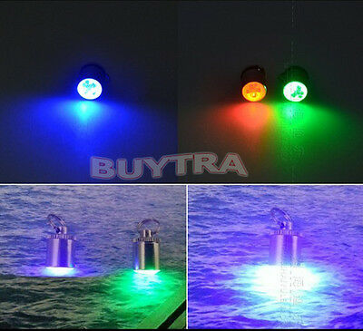 White LED Deep Drop Underwater Fishing Squid Fish Lure Lamp 5 Color New gt
