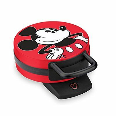 Disney Dcm-12 Mickey Mouse Waffle Maker Red New