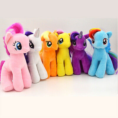 "New Cute 7"" My Little Pony Horse Figures Stuffed Plush Soft Teddy Doll Toy Gift"