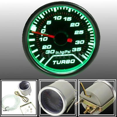 2'' 52mm Car Universal Green LED Turbo Boost Gauge Meter PSI Dials Face Vaccum