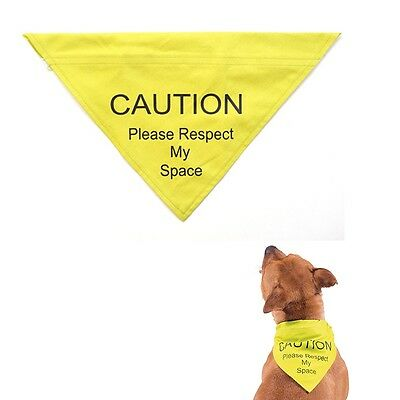 Ancol Dog Puppy Safety Warning  Bandana 'Respect My Space' High Vis Yellow