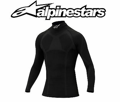 Alpinestars KX-W Winter Karting Top Long Sleeve T-Shirt Underwear Black - 2/3XL