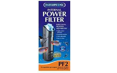 Interpet Internal Aquarium Power Filter for Fish Tanks, PF2 (up to 45-90 litres)