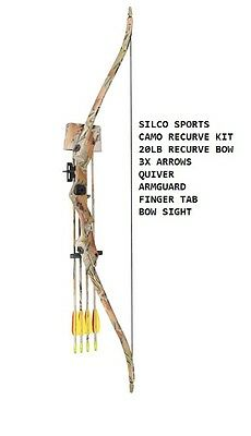 Archery Camo FAMILY / YOUTH Recurve Bow Set 20Lbs with 3 x Arrows & Accessories
