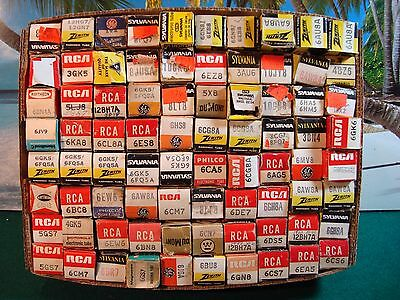 Mixed Lot Of 80 New/used Electronic Tubes - Complete List Included