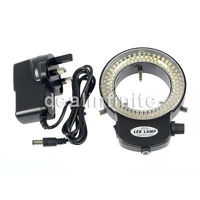 144LED Adjustable Ring Light illuminator Lamp for STEREO ZOOM Microscope UK