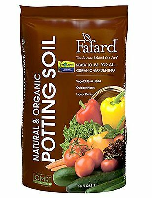 Fafard 4005103 Natural & Organic Potting Soil With Resilience, 1 Cu Ft