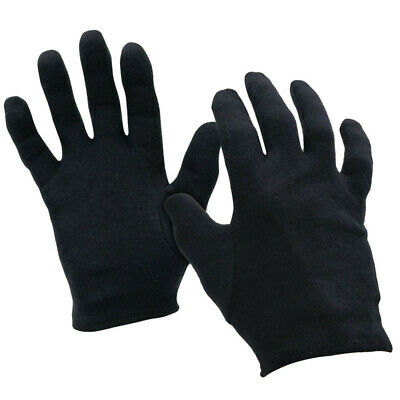 Black 100% Cotton Moisturising Glove Liners | Beauty Eczema Dermatitis Psoriasis