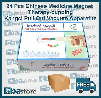 24 Pcs Chinese Medicine Magnet Therapy-Cupping Kangci Pull Out Vacuum Apparatus