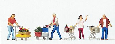 Preiser 1/87 HO Shoppers With Shopping Carts 10722