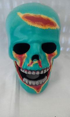 Ceramic Zombie Skull - Hand Made And Painted In Australia