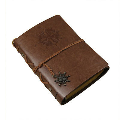 Vintage Classic Retro PU Leather Journal Travel Notepad Notebook Blank Diary NEW