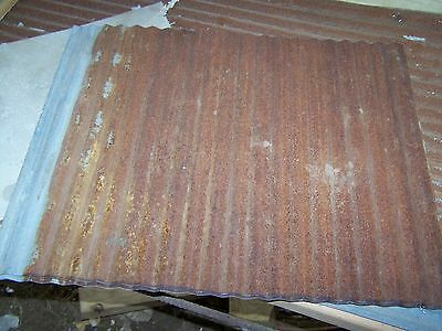 "Vintage Metal CORRUGATED TIN, 2 pcs. 26"" x 21"""