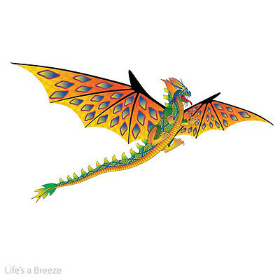 Fire Dragon 6Ft 3D Windsock Kite.Yellow in Colour .With Free line Rig