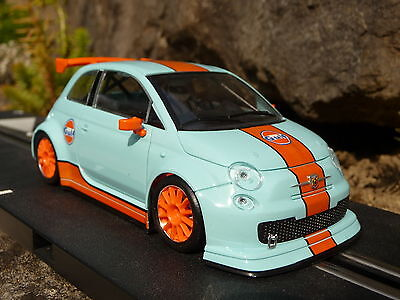 NSR FIAT Abarth 500 Team GULF in 1:32 auch für Carrera Evolution   801198SW