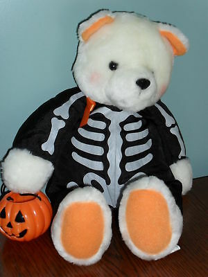"HALLMARK HALLOWEEN TRICK or TREAT BEAR 14"" plush"