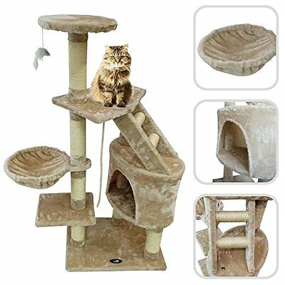 Cat Tree W/ Beige Scratching Post Scratching Post Made Of Natural Sisal Pet High