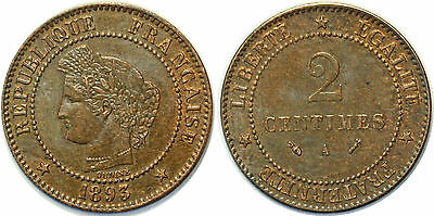 2 Centimes Ceres 1893 F.109 Sup!!!