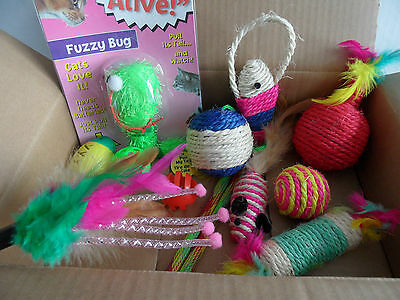 Cat Kitten Selection Box Contains 14 Toys. Ball, Mice, Sisal, Vibrating (No. 2)