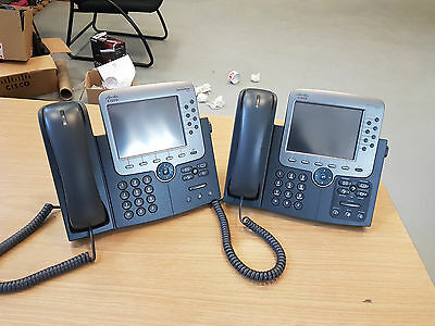 2 X CP-7975G Cisco Unified IP Phone , VoIP-Telefon TOUCH SCREEN - NO VAT
