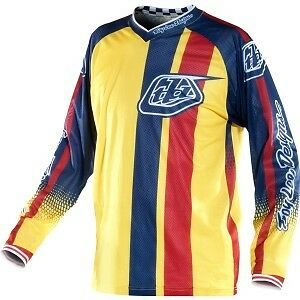 Troy Lee Design Jersey GP air Monaco Yellow / Blue / Red motocross Large L