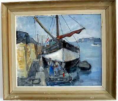 Dutch Sailor at the Jetty, Middle 20th Century