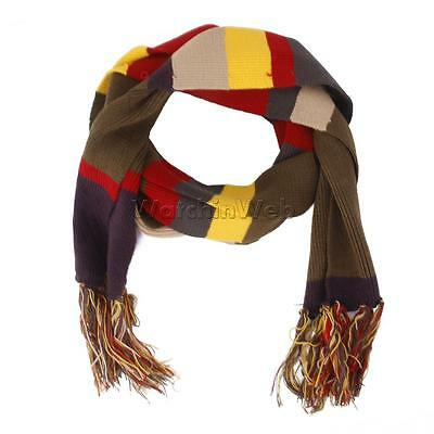 DOCTOR WHO Scarves 4th Doctor Deluxe Striped Scarf Tom Baker Muffler Costume