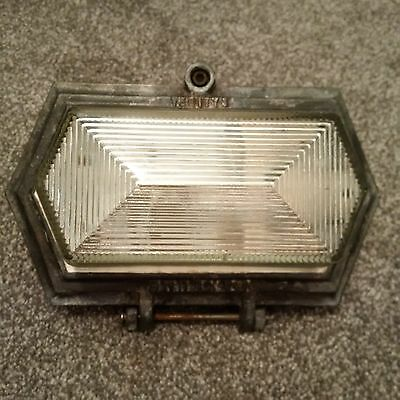 Vintage Maxlume industrial bulkhead light salvaged reclaimed vintage lamp retro