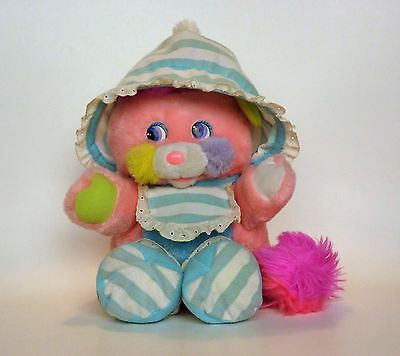 Vintage Baby Popple Stuffed Plush Bibsy Cribsy Pink Excellent Condition 1986